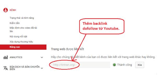 Thêm một backlink dofollow về website của bạn