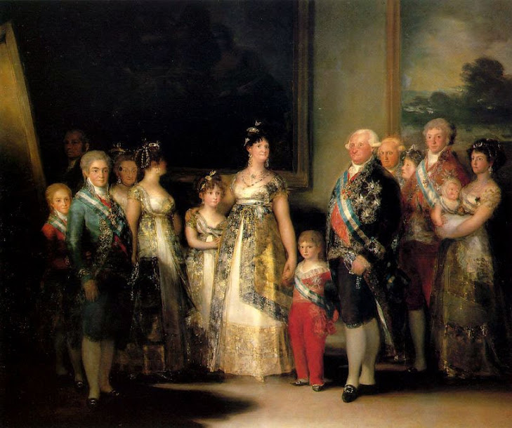 La famiglia di Carlo IV dipinto di Francisco Goya del 1801