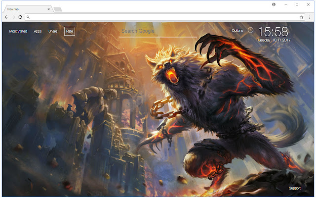 Chrome Web Store Wallpapers Cars Werewolf Wallpaper Werewolves New Tab Themes Free Addons