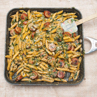 Creamy Spinach and Italian Sausage Pasta