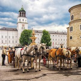 Salzburg, Austria. by Graeme Hunter - City,  Street & Park  Street Scenes
