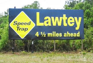 Photo: Speed trap sign (photo not mine)