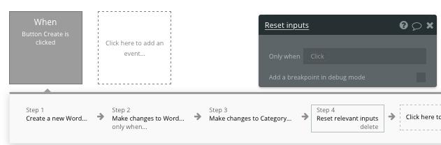 Bubble no code Duolingo clone tutorial resetting input elements