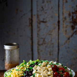 Southwest Black Bean, Corn and Cheddar Chopped Salad