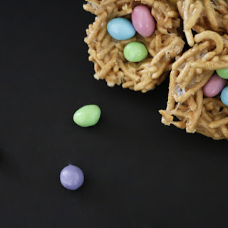 No Bake Marshmallow Bird Nest Dessert