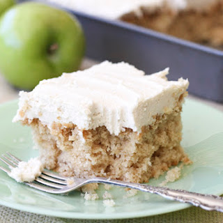 Easy Apple Cake with Brown Sugar Icing