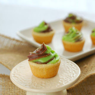Mint Chocolate Sugar Cookie Pudding Cups
