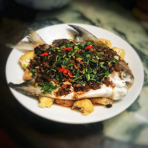 Black Bean, chinese, Preserved Lime, recipe, steamed fish, salted lime, salted lemon, 咸檸, 蒸魚, 豉汁
