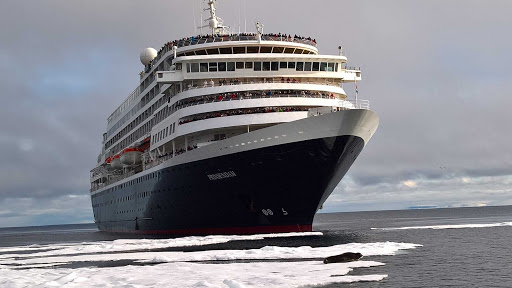 prinsendam-Arctic-from-tender.jpg - A view of Holland America's Prinsendam in the Arctic, taken from a tender.