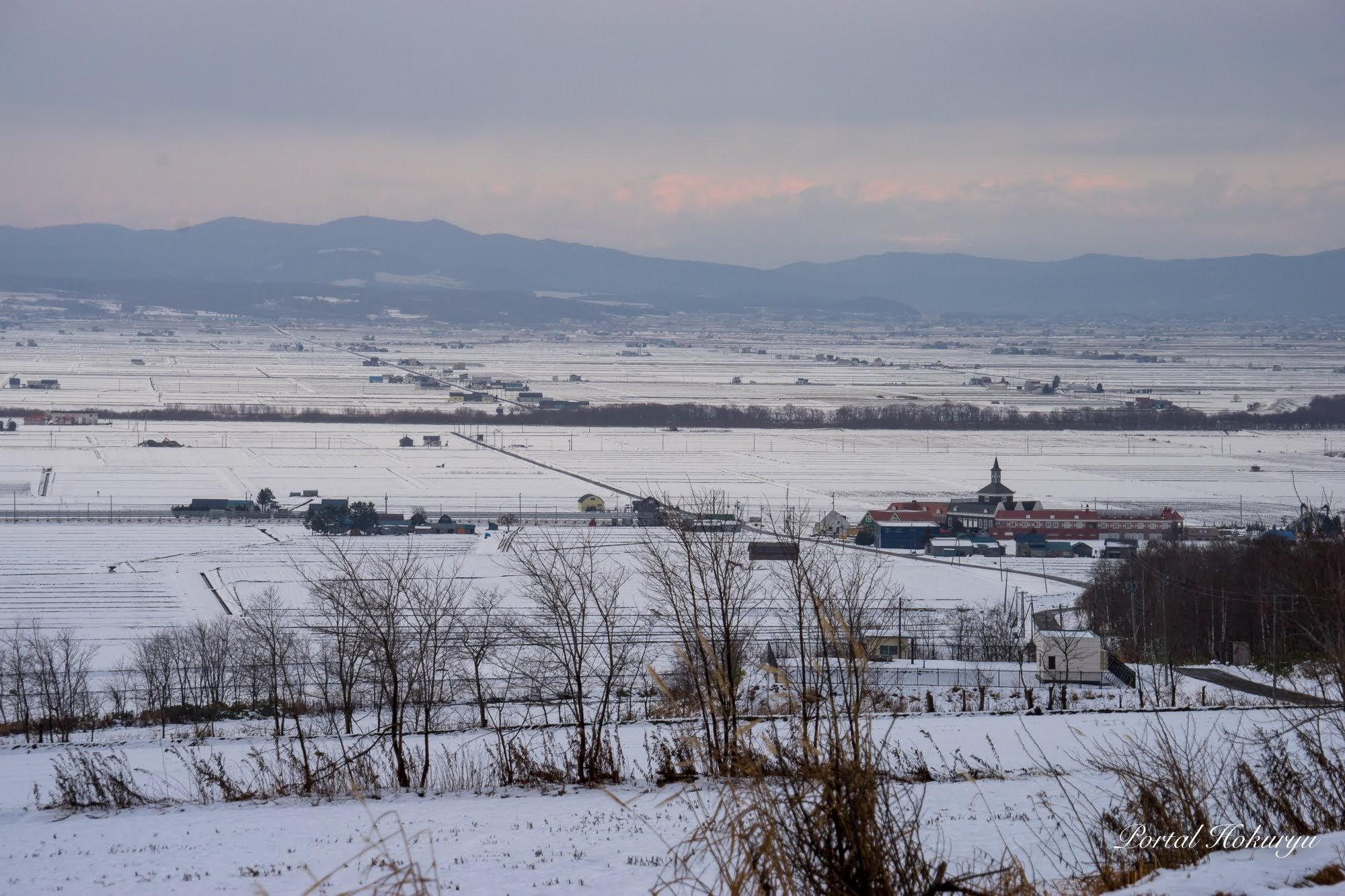 小雪の風景