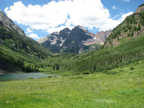 Photo: First view of the Maroon Bells