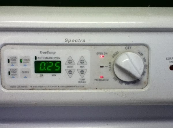 Bake for 25 minutes at 350*F.
