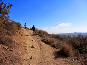 Photo: Trail users on Garcia Trail. I steadily climb enjoying the warm sun.