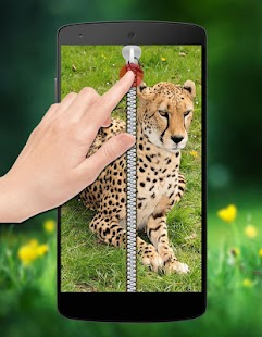 Cheetah Zipper Lock screenshot