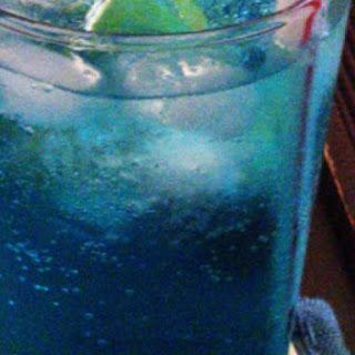 A Striking Blue Lagoon Cocktail