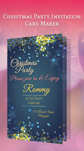 Christmas Party Invitation Card Maker