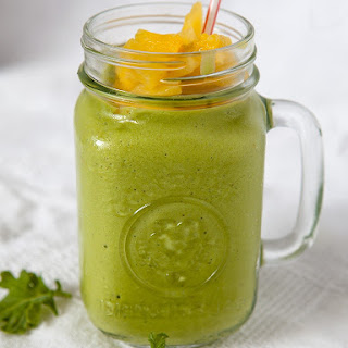Creamy Kale and Pineapple Smoothie.
