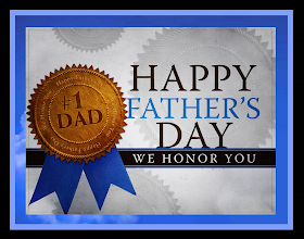 Photo: #1 DAD HAPPY FATHER'S DAY WE HONOR YOU  Blessed is the man that trusteth in the LORD, and whose hope the LORD is. ~ Jeremiah 17;7 KJV