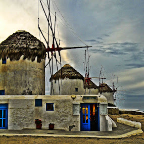 Greece Windmills by Adriano Sabagala - Novices Only Objects & Still Life