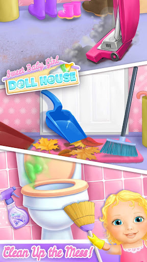 Sweet Baby Girl Doll House - Play, Care & Bed Time  screenshots 1