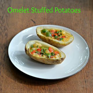 Omelet Stuffed Potatoes #FWCon