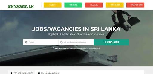 skyjobs lk- government jobs & gazette in sri lanka – Apps i