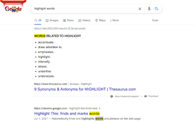 Highlight Word When Double Click