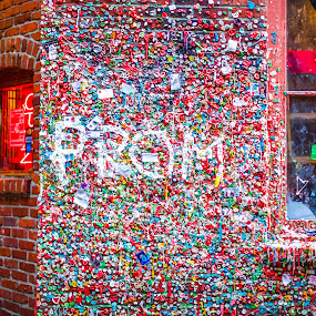 WIll you go to Prom with me? by Ronald Rivas - City,  Street & Park  Street Scenes ( seattle, gum, architecture, wall )