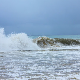 Preceding Hurricane William by Lena Arkell - Landscapes Weather ( waves, sky, caribbean, ocean, dark sky, sea,  )
