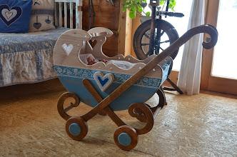 Photo: Wózeczek drewniany wózek z drewna