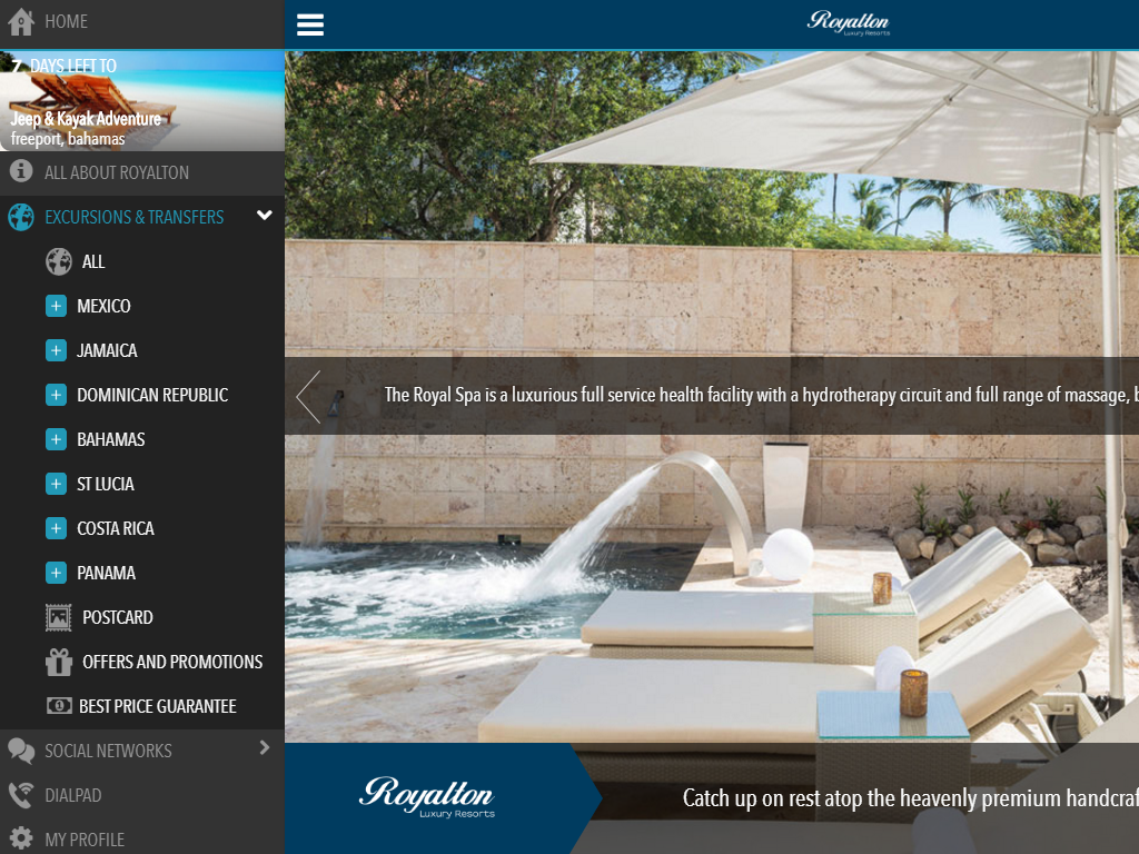 Royalton Resorts - Free Calls: captura de pantalla