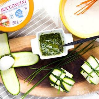 Zucchini Pesto and Bocconcini Parcels Recipe