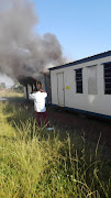 Mobile classrooms at Oakdale Secondary School in Ennerdale were set alight on Monday.