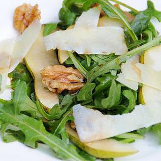 Walnut, Rocket, Pear and Parmesan Salad.