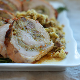 Rolled Turkey Breast with Sausage & Herb Stuffing