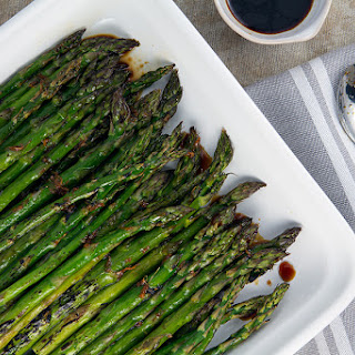 Broiled Asparagus with Ginger-Soy Glaze Recipe