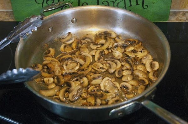 Cook until the mushrooms are beginning to brown, and most of the liquid has...