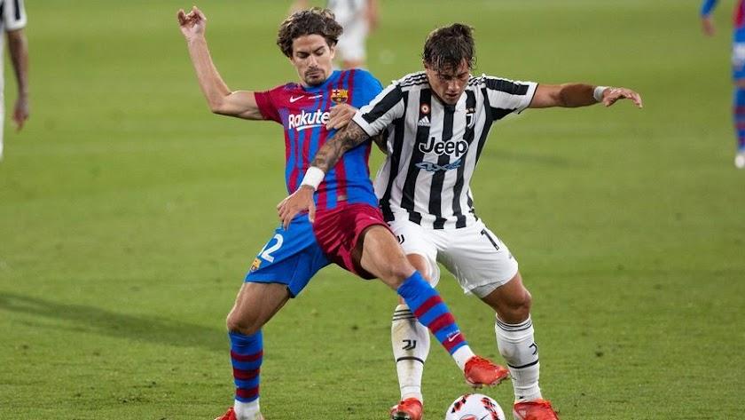 Álex Collado ante la Juventus en el Trofeo Joan Gamper de este verano.