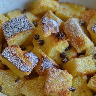 Orange-Chocolate Chip Brioche Bread Pudding (for two)