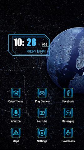 android Black dark landscape theme Screenshot 0