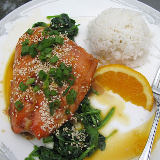 Grilled Terriyaki Salmon With Passionfruit