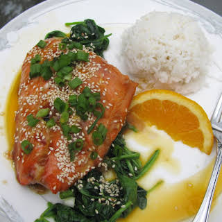 Grilled Terriyaki Salmon With Passionfruit.