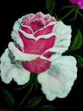 Photo: 202, Нетронина Наталья, Цветы –Роза белоснежка, Шерстяные, акриловые, вискозные волокна(сухое валяние шерсти), 40х30см,