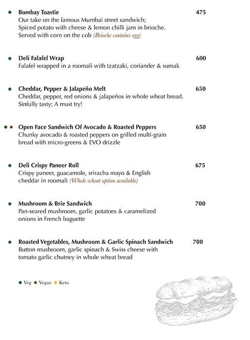 Indigo Delicatessen menu 11