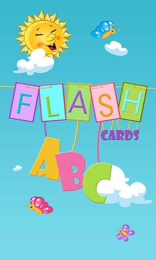ABC抽認卡兒童和幼兒