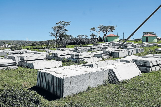 A file picture of VIP toilet frames have been lying around the village of Madliki when te siyenza project was suspended