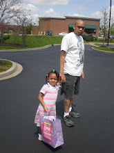Photo: on the way inside chuckie cheese for the bday party