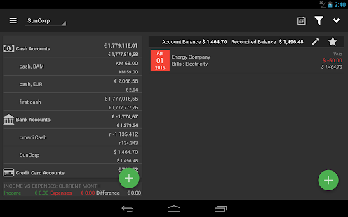 MoneyManagerEx Android, Beta- screenshot thumbnail