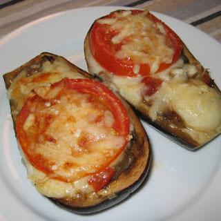 Melitzanes Papoutsakia (Stuffed Eggplant).