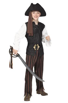 Piratdräkt, rustik barn